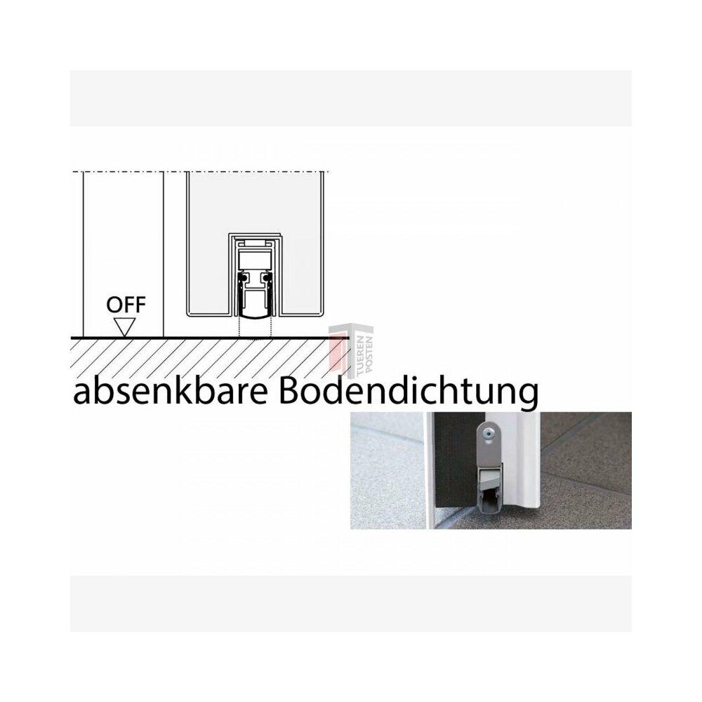 absenkbare bodendichtung f r t30 fsa und dw t ren teckentrup www b 22 95. Black Bedroom Furniture Sets. Home Design Ideas