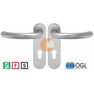 D-500 Serie | Drückergarnituren Kurzschild in Edelstahl | Aluminium
