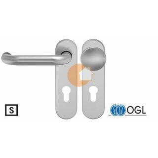 Wechselgarnitur Drücker Knauf Profilzylinder Aluminium D110 WSG (K130) S OGL