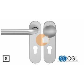 Wechselgarnitur  Drücker Knauf Profilzylinder Edelstahl D210 WSG (K130) S OGL