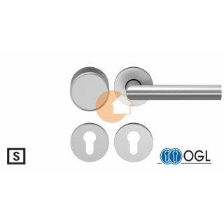 Wechselgarnitur Drücker Knauf Profilzylinder Edelstahl D310 WSG (K130) S OGL
