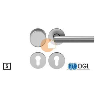 Wechselgarnitur Drücker Knauf Profilzylinder Aluminium D310 WSG (K130) S OGL