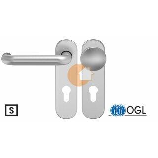 Wechselgarnitur Drücker Knauf Profilzylinder Edelstahl D120 WSG (K130) S OGL