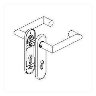 Drückergarnitur Drücker Drücker Profilzylinder Panik Aluminium D330 P OGL