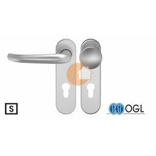 Wechselgarnitur Drücker Knauf Profilzylinder  Edelstahl D410 WSG (K130) S OGL