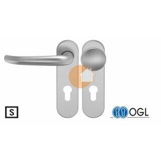 Wechselgarnitur Drücker Knauf Profilzylinder Aluminium D410 WSG (K130) S OGL