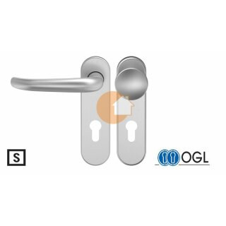 Wechselgarnitur Drücker Knauf Profilzylinder Edelstahl D510 WSG (K130) S OGL