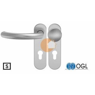 Wechselgarnitur Drücker Knauf Profilzylinder Aluminium D510 WSG (K130) S OGL