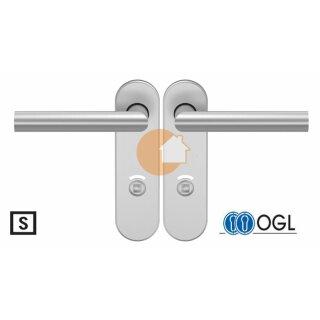 WC - Drückergarnitur Drücker Drücker  Außenvierkant Edelstahl D310 S OGL