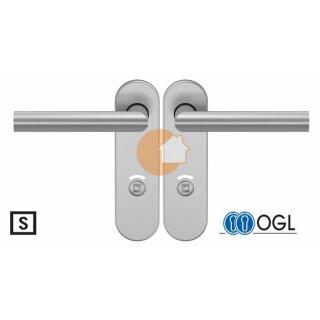 WC - Drückergarnitur Drücker Drücker Außenvierkant Aluminium D310 S OGL