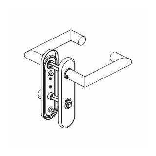 WC - Drückergarnitur Drücker Drücker Außenvierkant Aluminium D330 S OGL