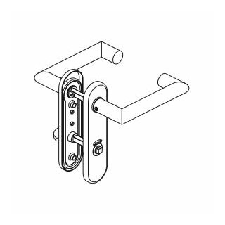 WC - Drückergarnitur Drücker Drücker Außenvierkant Edelstahl D330 S OGL