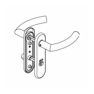 WC - Drückergarnitur Drücker Drücker Außenvierkant Aluminium D510 S OGL