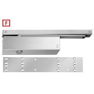 Obentürschließer TS-61 B Silber RAL 9006 2-5 mit Gleitschiene