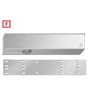 TS-61 G Silber RAL 9006 2-5 ohne Gleitschiene mit Schließverzögerung