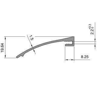 1250 mm Alu-Regenleiste FSA / DW Türen