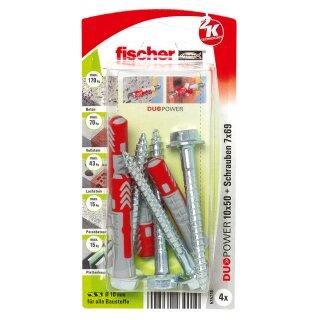 fischer DUOPOWER 10 x 50 S mit Schraube (4 St.)