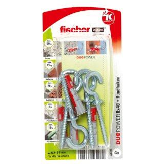 fischer DUOPOWER 8 x 40 RH mit Rundhaken (4 St.)